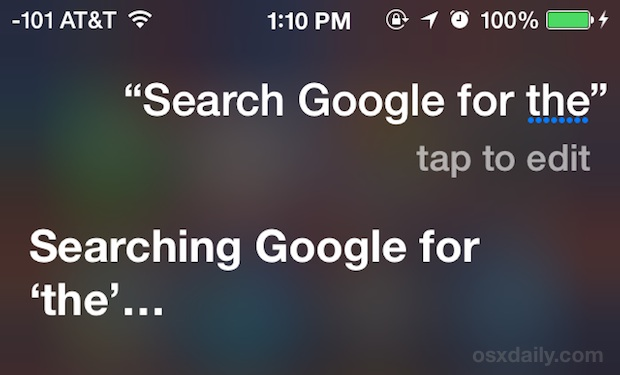 Tell Siri to use Google or Yahoo as an alternative web search