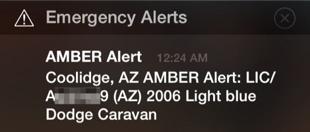AMBER Alert on the iPhone