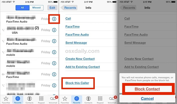 Block contact calls and messages on iPhone