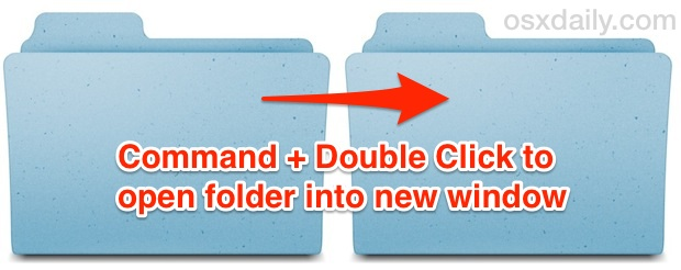 Command+Double Click to open a folder into a new window