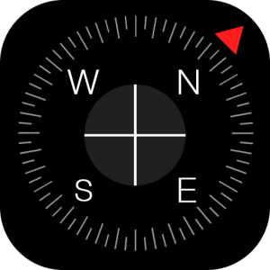 Compass icon for iPhone on iOS