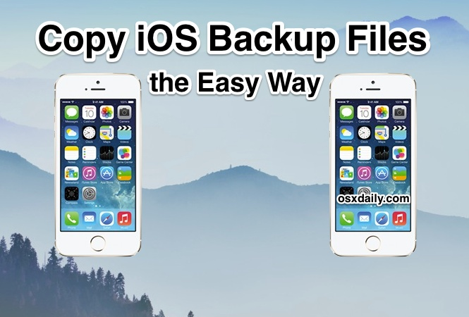 Copy iOS Backup Files