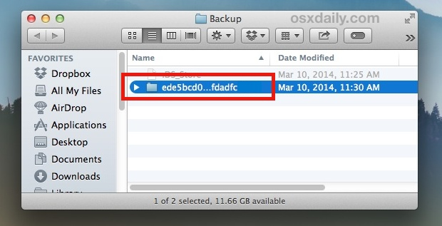 Make a copy of the iPhone backup