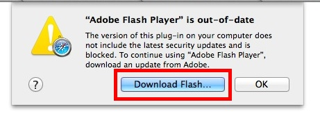 Download Adobe Flash in Mac OS X Safari