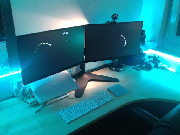 Dual display retina MacBook Pro and custom LED backlighting