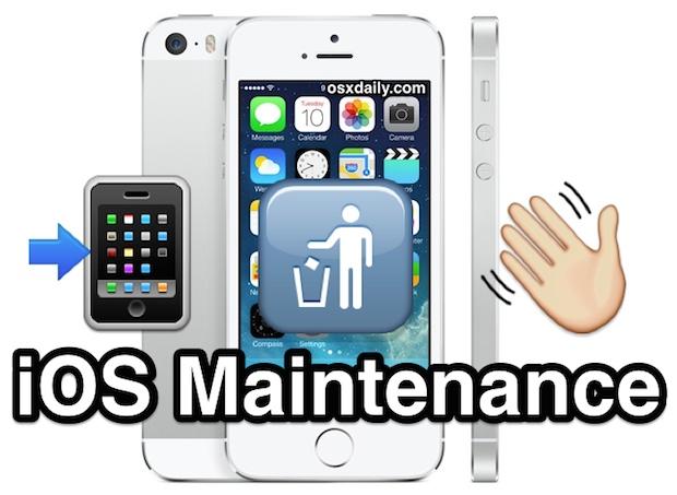 Essential iOS Maintenance tips
