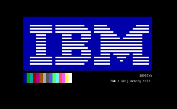 IBM Boot Screen