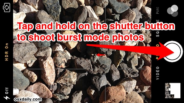 Rapidly snap multiple photos with burst mode on the iPhone