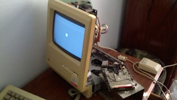 Macintosh 128k opened and restored