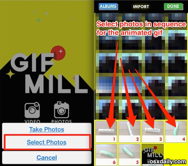 Make an animated GIF on the iPhone