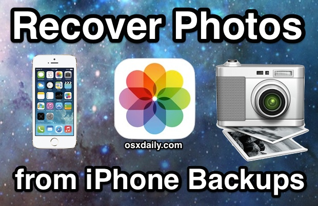 Recover Photos from an iPhone Backup