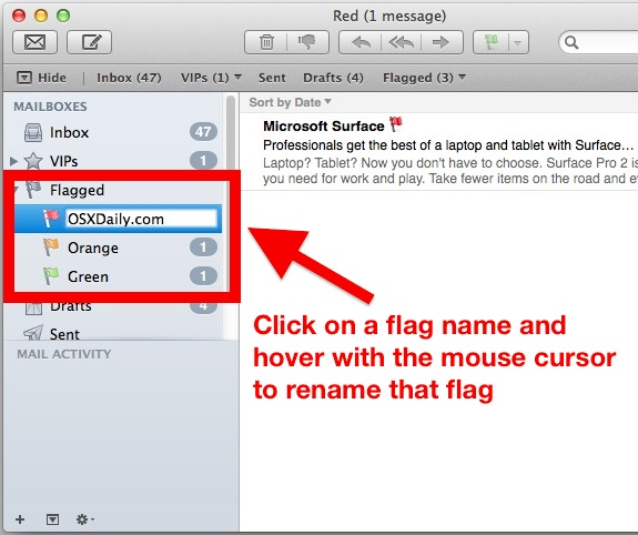 Rename Mail Flags in Mac OS X