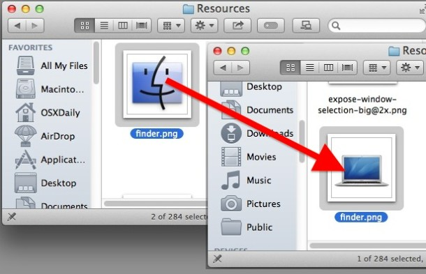 Replace the Finder Dock icon