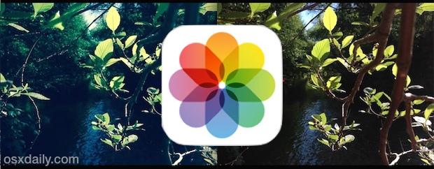 Restoring an unfiltered original image in iOS Photos app