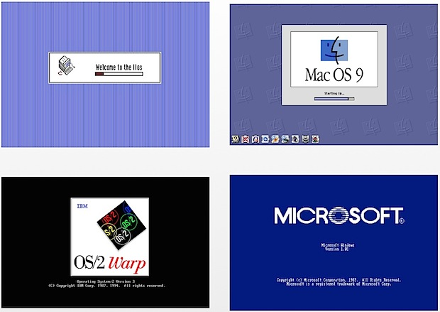 Retro Boot Screens of old Mac and PC computers