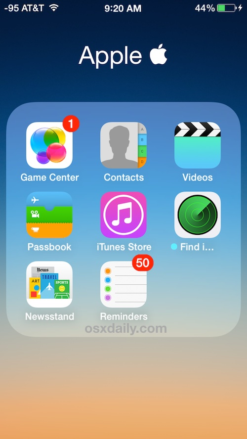 Toss unused apps into a folder and forget they exist