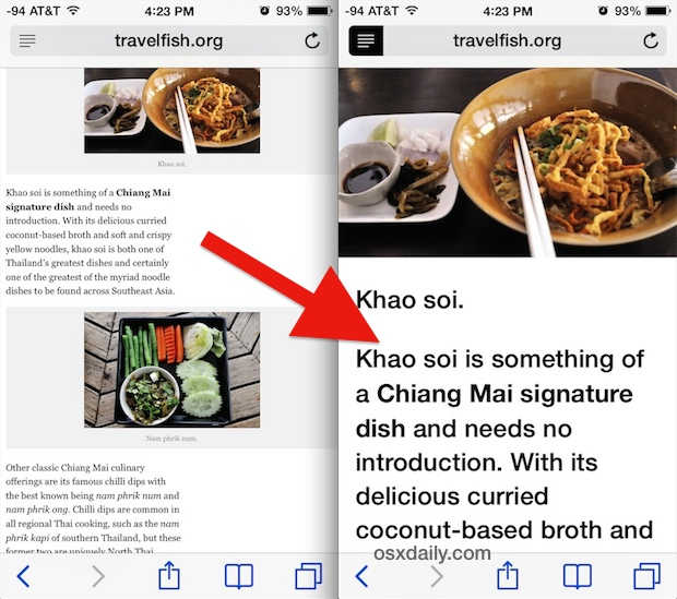Use Safari Reader on an iPhone