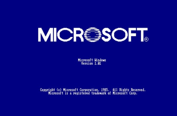 Microsoft Windows 1.0 Boot Screen