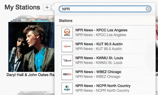 Add NPR Station in iTunes