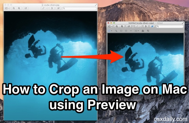 Crop an image on Mac OS X with the Preview app