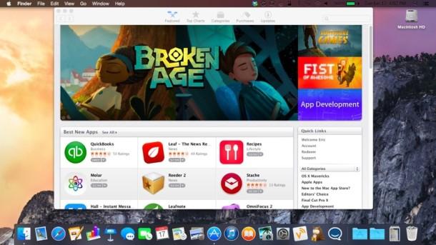 OS X Yosemite Dark Mode preview
