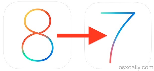 Downgrade iOS 8 back to iOS 7