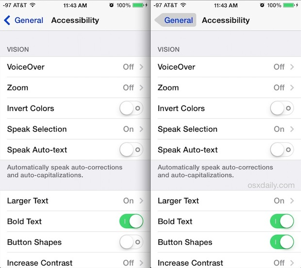 Enabling Button Shapes in iOS to improve usability