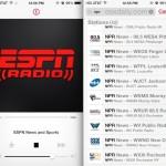 ESPN Radio and NPR Radio in iTunes on the iPhone