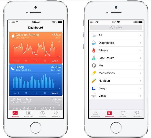 Health app in iOS 8