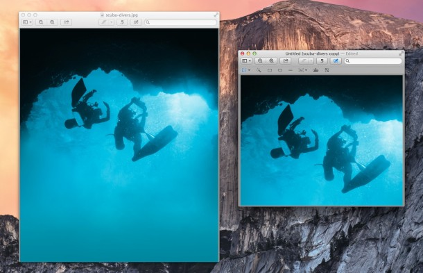 Cropping images in Mac OS X Preview