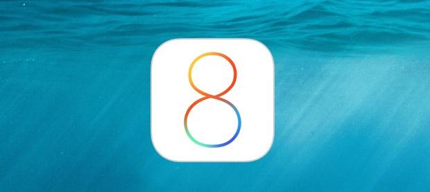 iOS 8 water logo image