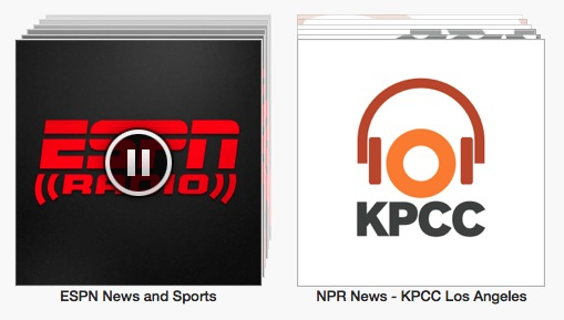 Listen to ESPN Radio and NPR Local Stations on iTunes Radio