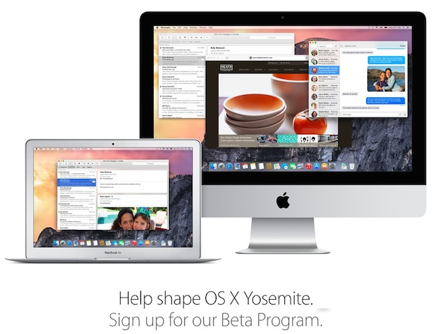 OS X Yosemite beta program