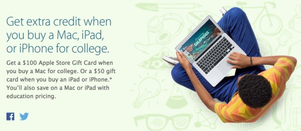 Apple Back to School Promo 2014