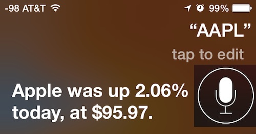 Get Stock market data from Siri