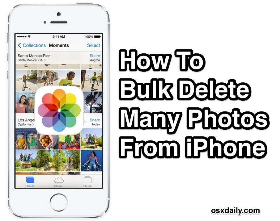 Remove multiple photos from the iPhone at once
