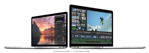 Retina MacBook Pro models