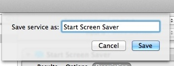 Save Screen Saver as a service for a keystroke