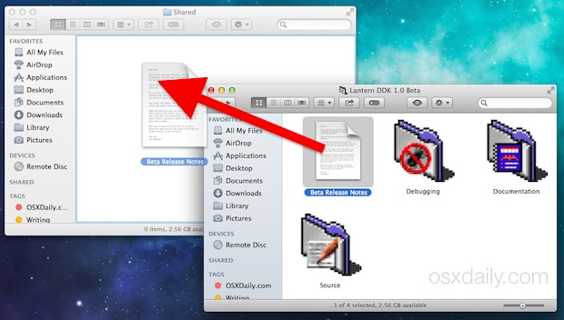Share Files between Mac user accounts on the same Mac