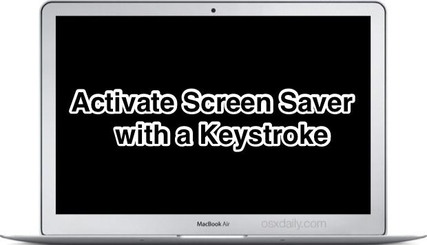 Start Screen Saver with a Keystroke in Mac OS X
