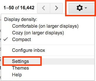 Where to access Gmail Settings to enable the Undo Send feature