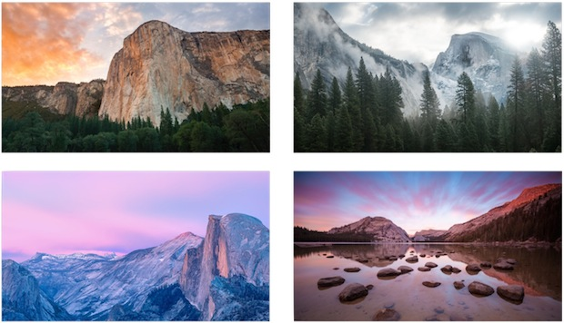 4 Yosemite wallpapers