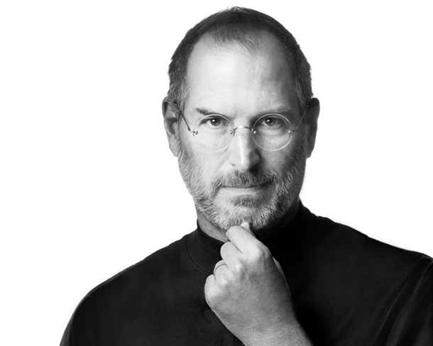 Famous Steve Jobs portrait from Apple