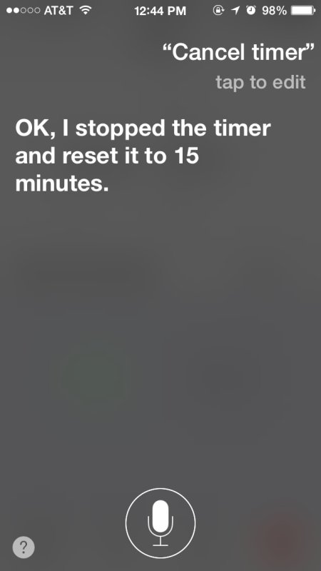 Cancel a timer with Siri