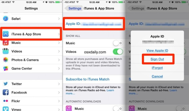 How to Change an Apple ID in iOS