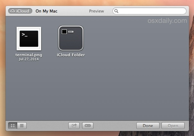 iCloud Folder made from OS X iCloud File Browser