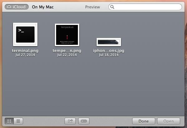 iCloud file browser in OS X Mavericks