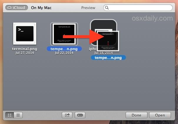Making iCloud folders in OS X iCloud Browser with drag and drop