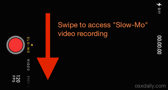 Record slow motion video with iPhone