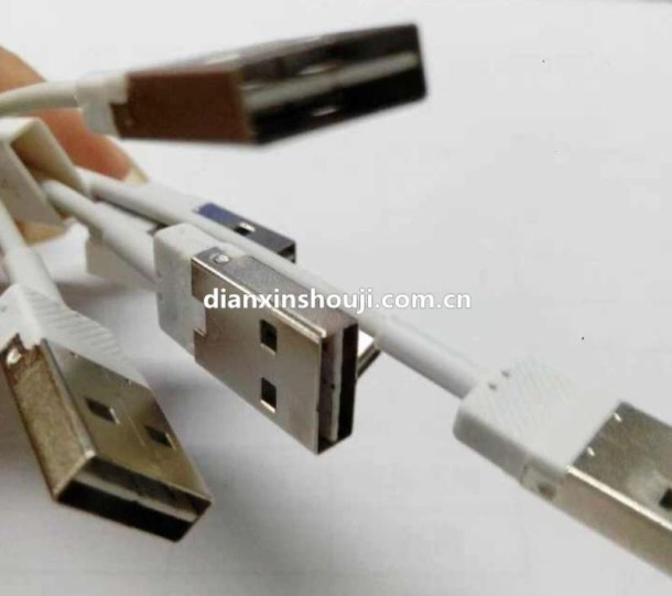 Reversible USB lightning cable